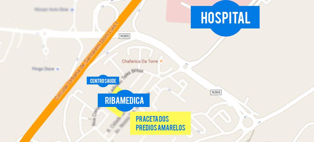 Clinica Ribamedica Santarem - Mapa